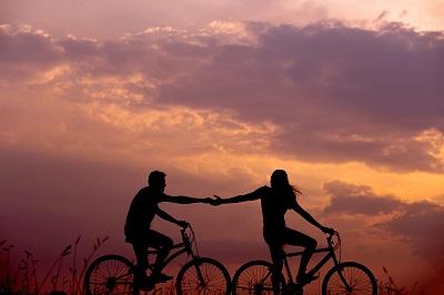 カップル 自転車
